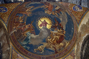 Fresco Art Work in Kerepesi Cemetery Budapest Hungary