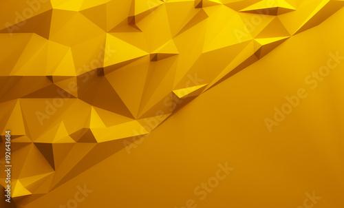 Orange triangular lowpoly background