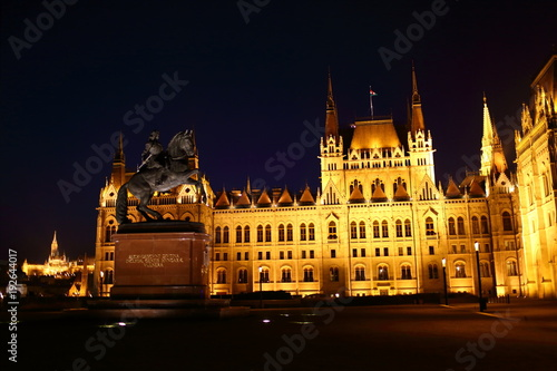 Aluminium Boedapest Budapest Parliament Building in the Night