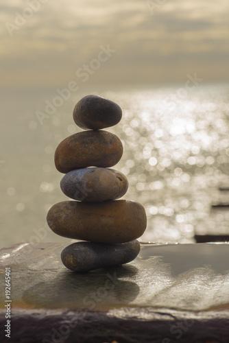 Aluminium Zen Stenen stack o' stones
