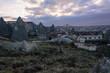Красивый закат в Каппадокии