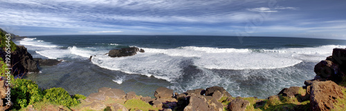 Big waves on Gris Gris cape on South of Mauritius. panorama.. - 192656463