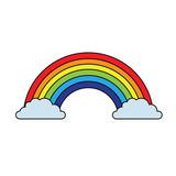rainbow clouds magic fantasy sweet decoration vector illustration - 192664022