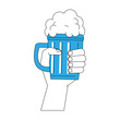 Hand with beer icon vector illustration graphic design