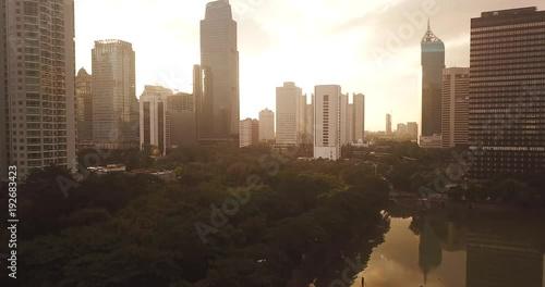 Jakarta city landscape on dusk time