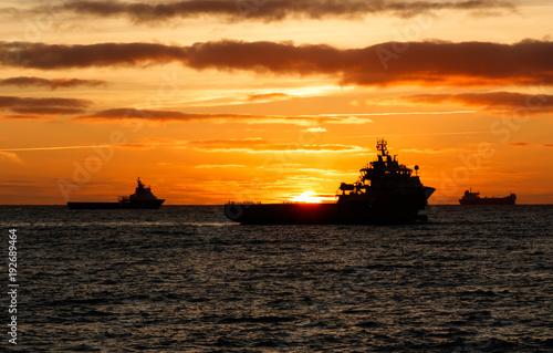 Papiers peints Mer coucher du soleil Sunrise Aberdeen anchorage
