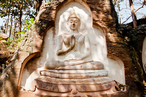 Staande foto Boeddha Buddha Pang Concentration to Nirvana is eternal.