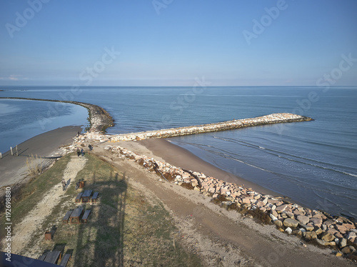 Foto Murales Aerial view of artificial dikes