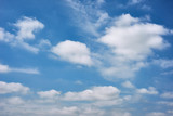 beautiful blue sky with cloud as abstract background