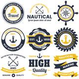 nautical Retro Vector Logo for banner