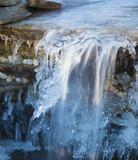 Waterfall stull running covered in ice - 192708066