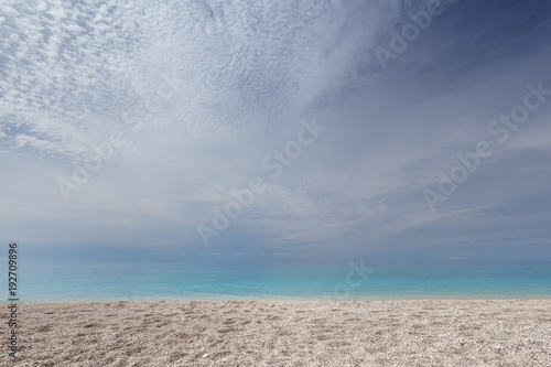 Idyllic seascape with turquoise waters in background