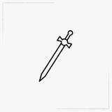 sword line icon - 192710838
