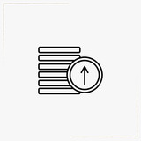 income growth line icon - 192712820