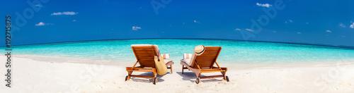 Piękna tropikalna plaża przy Maldives