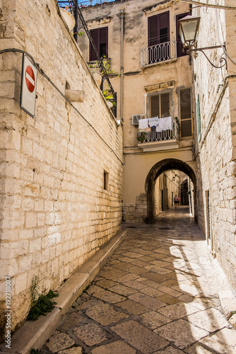 An alley of Trani, Puglia, Italy