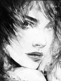 beautiful woman. fashion illustration. watercolor painting - 192718856