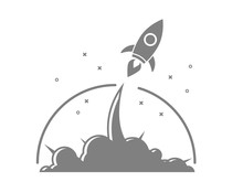 Rocket Startup Launch  Sticker