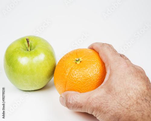 Orange and apple comparison