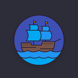 sailing vessel, ship vector illustration - 192721641