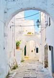 Old street in Ostuni, Puglia, Italy