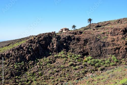 Fotobehang Blauw La Gomera: hike from Playa de Santiago to San Sebastian