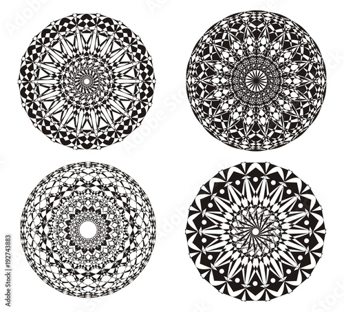Art background. Mandala. Abstract picture.