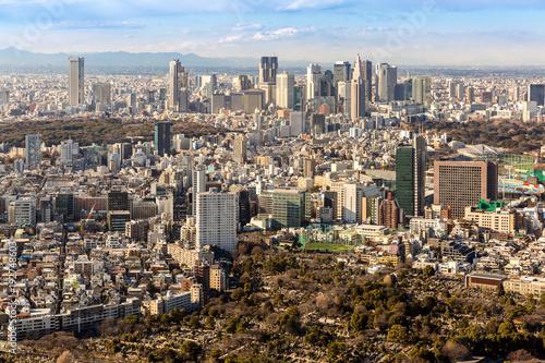 Fotobehang Tokio Tokyo Shinjuku skylines
