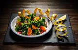 Vegetable salad on wooden background - 192750237