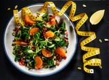 Vegetable salad on wooden background - 192750252