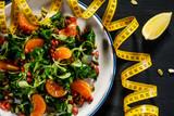 Vegetable salad on wooden background - 192750276