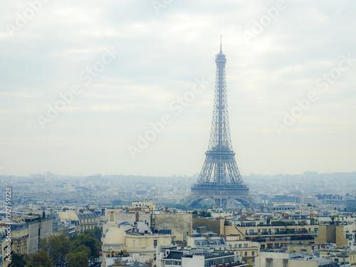 Poster Parijs Amazing aerial view of Paris