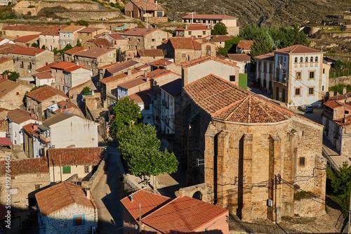 Wall mural Magaña village in Soria province, Spain
