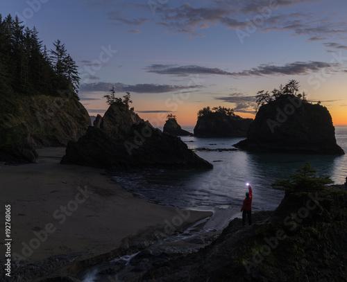 Foto op Aluminium Zee zonsondergang Secret Beach Dusk