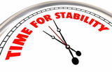 Time for Stability Clock Stable Strength Security 3d Illustration - 192769876