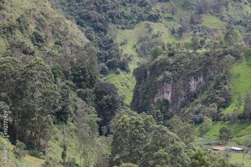 Deurstickers Khaki paisaje29