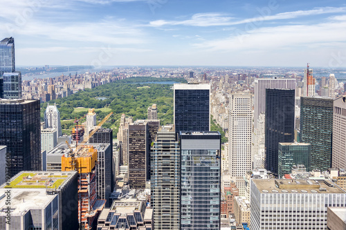 Foto op Canvas New York Aerial view of Central Park in New York city, USA.