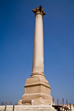 Pompey's Pillar in the city of Alexandria, Egypt