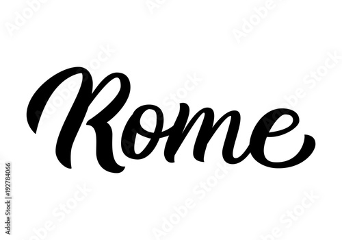 Rome hand lettering