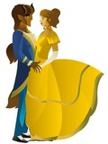 Beauty And Beast Dancing Wall Sticker