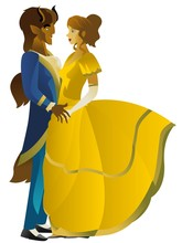 Beauty And Beast Dancing Sticker