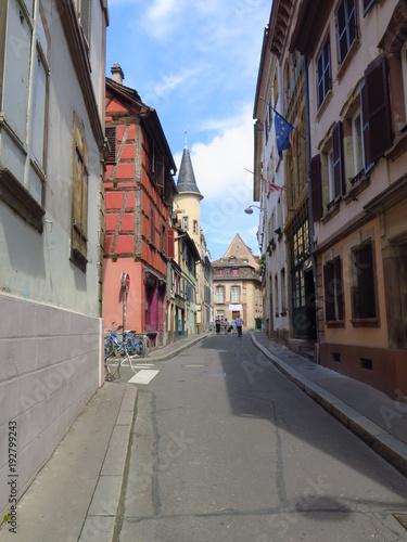 Fotobehang Smalle straatjes Strasbourg