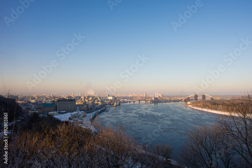Aluminium Kiev Ukraine. Kiev. View of the Kiev. Panoramic view from the hill over the