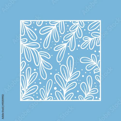 Illustration of floral pattern frame
