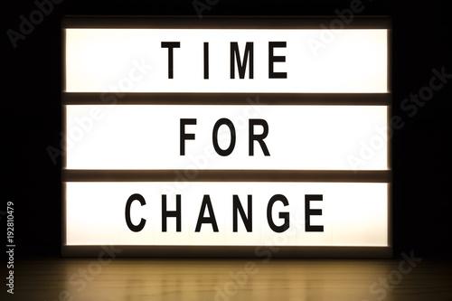 Time for change light box sign board