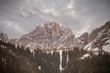 winter alpine mountain landscape