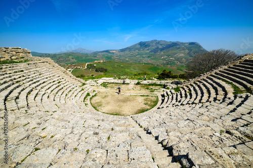 Aluminium Beige Antyczna teatr w Segesta, Sycylia, Włochy
