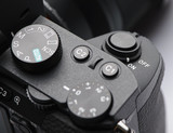 Shutter button on mirrorless camera - 192827011