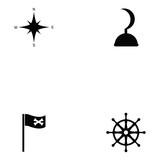 Pirates Icon Set Wall Sticker