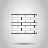 Wall brick stone icon. Vector illustration on isolated background. Business concept wall pictogram. - 192828621